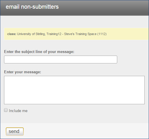 Email Non-Submitters Form